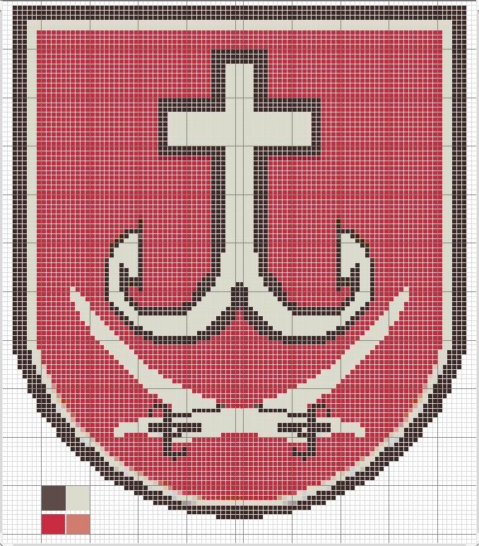 Герб міста Вінниці.  Схема для вишивання.